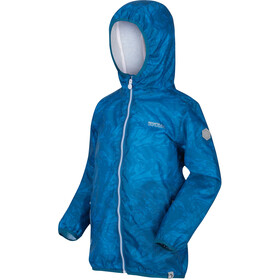 Regatta Printed Lever Waterproof Shell Jacket Kids blue aster